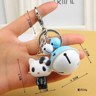 Mini Ghosts Hello kitty Key chain Modelling of the zombie Bell key chain Toy 02