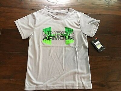 Under Armour Little Boys' Big Logo Iteration T-Shirt Size 4 Gray New With Tags!