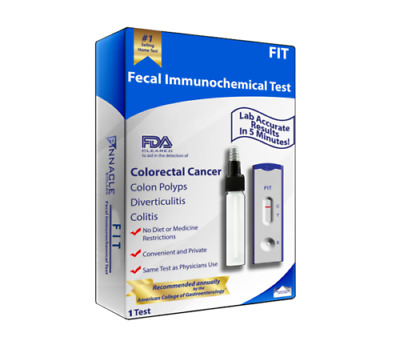 SECOND GEN. FECAL IMMUNOCHEMICAL TEST BY PINNACLE LABS.FIT (NO BOX Included)