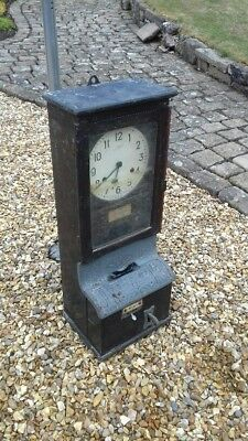 Antique Blick clocking in time recorder