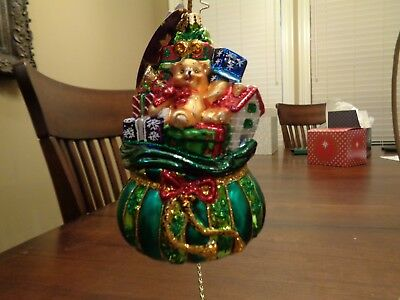 """Radko - All I Want for Christmas - 1016567 - 5"""" with tags, never used"""