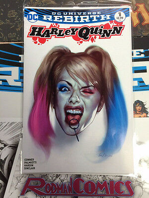 Harley Quinn 1 variant cover Ben Oliver Exclusive DC Forbidden Planet Rebirth NM