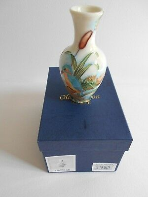 Old Tupton Ware Vase Decorated With Kingfisher Tw7960 Boxed