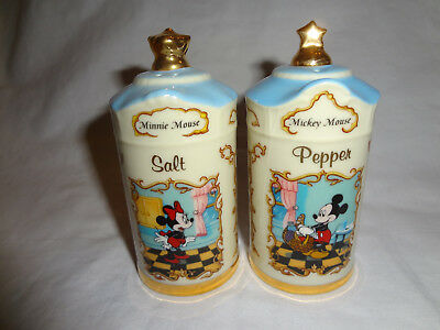 Lenox Animated Classics Mickey and Minnie Salt & Pepper Shakers 1997 Retired