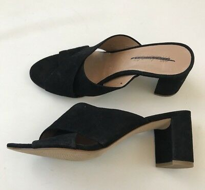 8fe03030de0 Madewell  148 The Greer Mule Sandal Size 8.5 Black G1982 Heels Shoes New