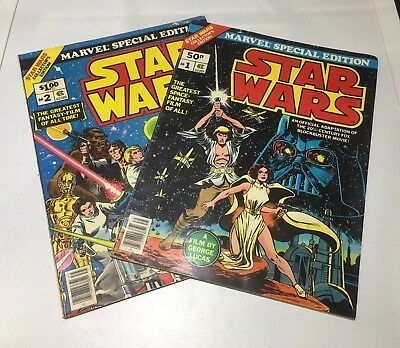 Marvel Special Edition Star Wars #1+2 Large-Format Comic Books 1977