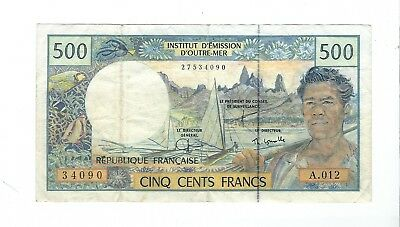 French Pacific Territories - 500 Francs   1992