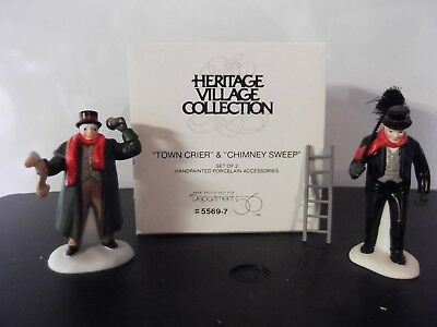 "Dept. 56, Dickens Village Accessory ""Town Crier"" & ""Chimney Sweep"" #55697"