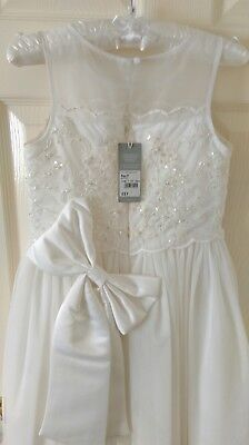 Girls first holy communion dress  (IVORY) 8-9 Years