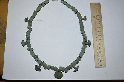 Ancient beads.Bronze age.  100% original Metal detector finds N7