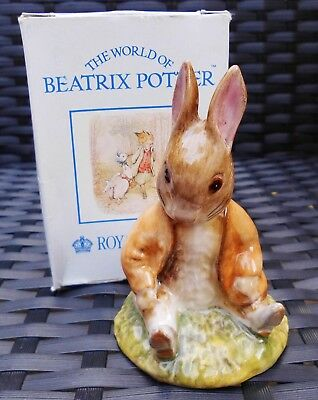 Beswick Royal Albert Beatrix Potter BENJAMIN BUNNY SAT ON A BANK BP6A MINT BOXED