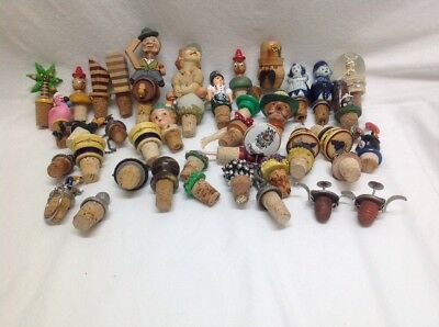 Vintage Lot (41) Cork Bottle Stoppers / Toppers / Pourers