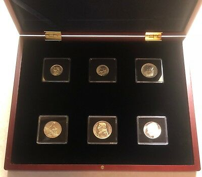 PAPEA XX SAECULI VATICAN 6 COIN SILVER SET # 27 Of 250 ISSUED * Rare *
