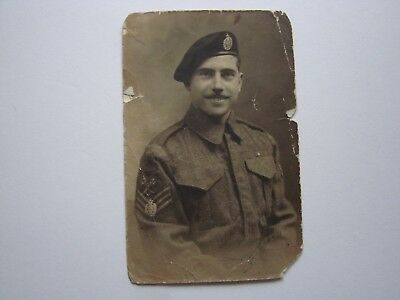Canada WW2 Photo, Sgt 1st Hussars shows Badge use on sleeve