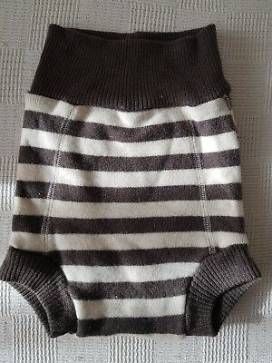 Storchenkinder Wool Nappy Cover Brown Size 3