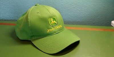 John Deere Green Snap back Hat Cap with Vintage Logo in Yellow and green