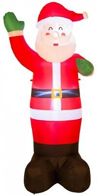 Glitzhome 8.14 ft. H Lighted Inflatable Santa Decor