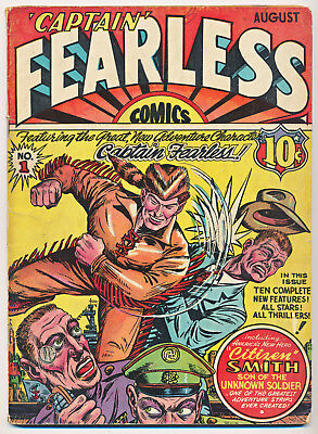 CAPTAIN FEARLESS COMICS NO. 1 1941 1st MISS VICTORY! KEY GOLDEN-AGE! MR. MIRACLE