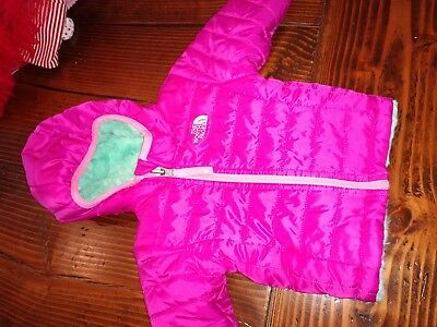 The North Face Baby Girl's Mossbud Swirl Reversible Jacket Size 6 Months