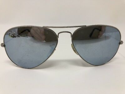 1952bb63755 Ray ban Aviator Sunglasses RB 3025 Large Metal Matte Silver 019 W3 58-14
