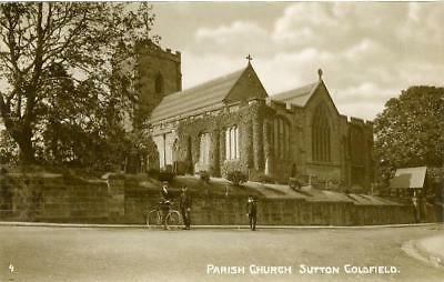 Real Photo Postcard Of Sutton Coldfield Church, (Near Birmingham), Warwickshire