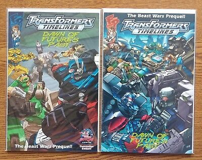 Transformers Timelines #1 DAWN OF FUTURES PAST Beast Wars BOTCON 2006 Comic Lot