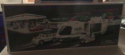 Hess Toy Truck Helicopter with Motorcycle and Cruiser Limited Release 2001