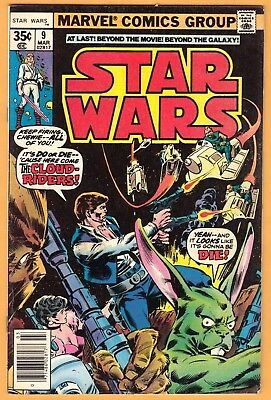 Star Wars #9  FN/FN+ Sharp! (Marvel-1977)  -combine ship-