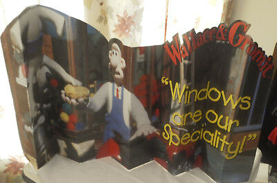Wallace & Gromit Cardboard Stand Up - Windows Are Our Specialty
