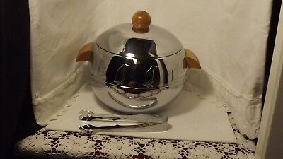 Vintage West Bend Aluminum Penguin Ice Bucket With Tongs
