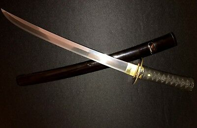 Antique Japanese Samurai Sword -Collection-Gold/Shakudo -Old Naginata Naoshi