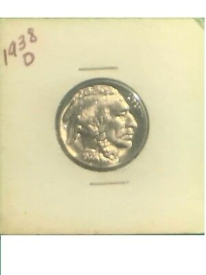1938-D  Buffalo Nickel - Excellent - Strong Grade - Needs to be graded!