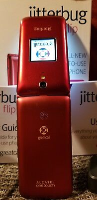 GreatCall Jitterbug Flip Easy-to-Use Cell Phone for Seniors - Red