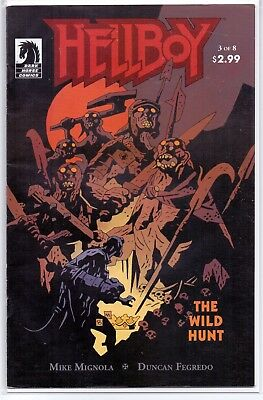 HELLBOY THE WILD HUNT #3 (2009) 1st full app NIMUE THE BLOOD QUEEN (FN/VF) RARE