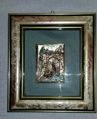Made In Italy Souvenir Italian Village  Maestri del Bassoriliebo  framed plaque