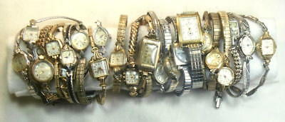 Over 60 Lot of Vintage & Antique Wrist Watches & Movements for Parts or Repair