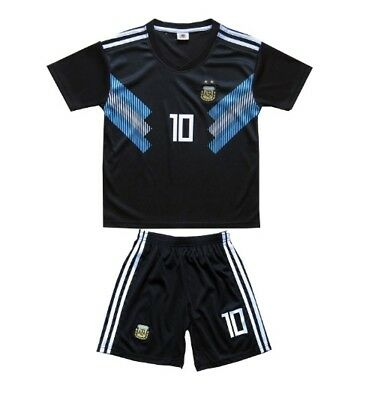 the latest 07092 7d539 ARGENTINA MESSI AWAY Jersey + Shorts World Cup Kids Set Youth Medium (8-9  Years)
