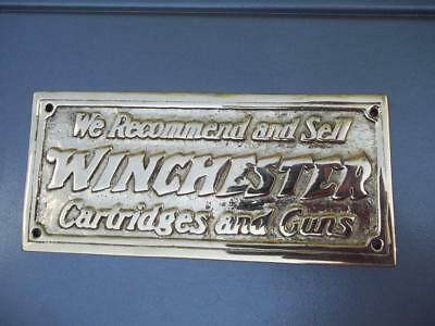 Heavy Brass We Recommend And Sell Winchester Cartridges And Guns Sign Plaque