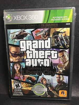 Shrink Wrap Sealed Grand Theft Auto Episode From Liberty City 2 Games XBOX 360