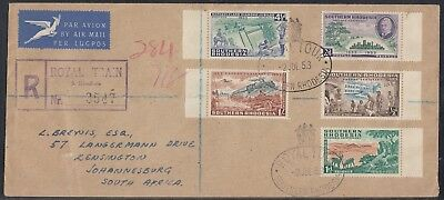 Southern Rhodesia - 1953 Royal Tour Commercial Cover - Royal Train R3547