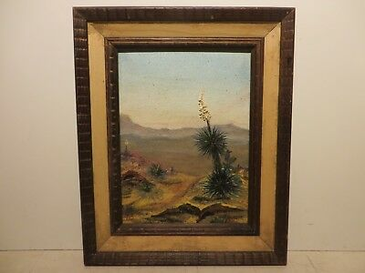 "12x9 org.1950 oil painting on board by Glen Tay of ""Bandora Desert SA"" Landscape"