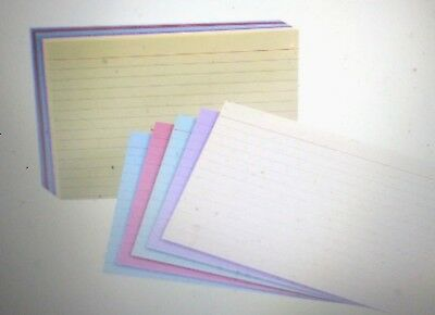 Esselte Oxford Rainbow Ruled Index Card, 3 X 5 in, Multiple Color 100