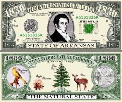 FREE SLEEVE classic State of Vermont Dollar Bill Fake Funny Money Novelty Note