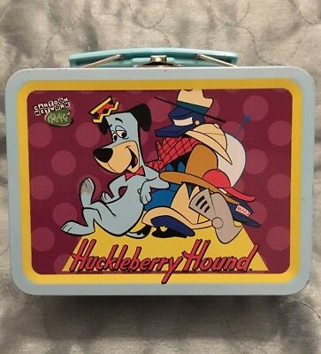 "Cartoon Network Huckleberry Hound Dog Tin Case Crayon Box 5"" Trinket Box"