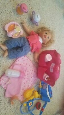 Fisher Price Little Mommy Interative Talk N Play toddler with extras!!