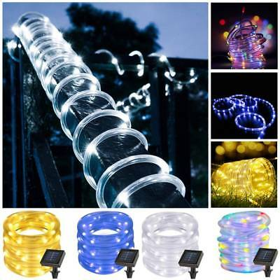 12M 100LED Battery / Solar Power String Fairy Light Rope Tube Lamp Garden Party