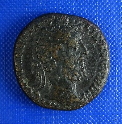 Commodius, 177 - 192AD, AE23  AS, Triumphal Quadriga. 23mm. 10.55gr. RIC 568 var