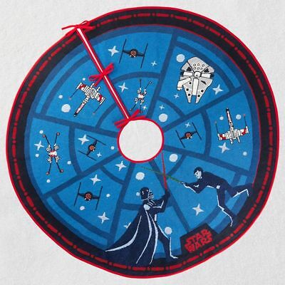 Hallmark 2018 ~ Star Wars™ The Force Is Strong Tree Skirt With Light