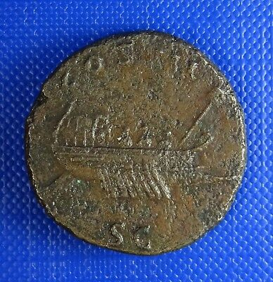 Hadrian, 117-138AD,  AE AS, 24mm - Galley - Rare