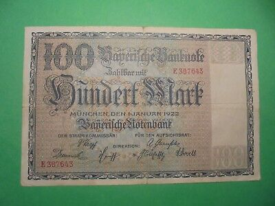 Wow What A Date 1/1/1922 German Banknote.